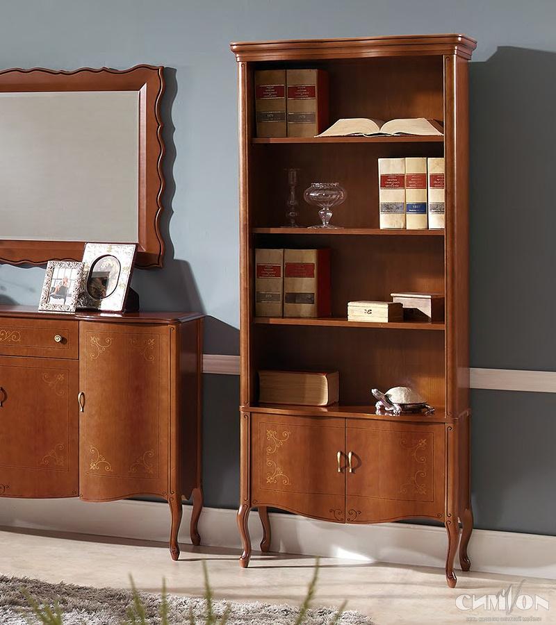 Книжный шкаф panamar 725 в классическом стиле.